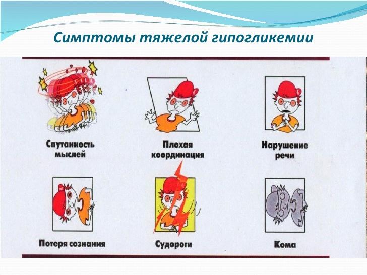 осложнения гипогликемии