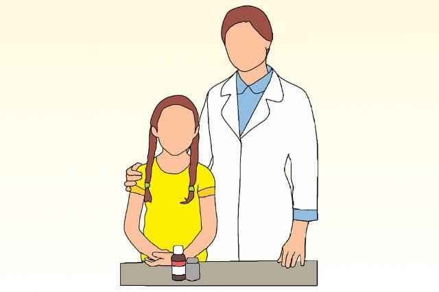 Ребенок на приеме у фтизиатра