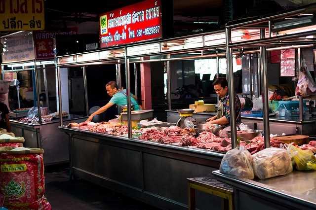 Мясной рынок в азии