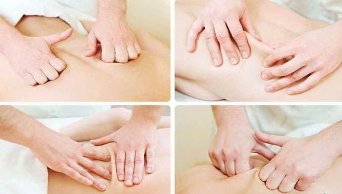 лечебный массаж поясницы