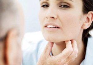 пальпацию щитовидки