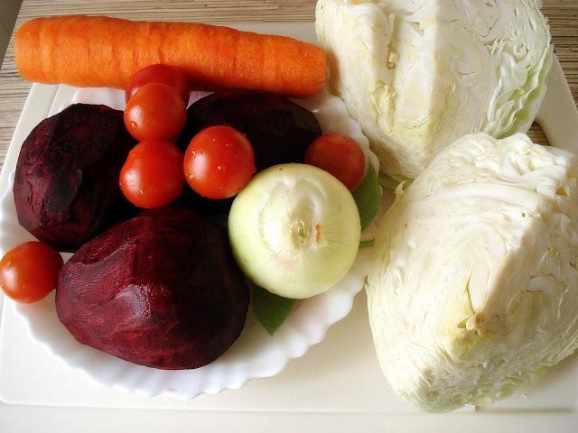 Овощи для борща во время гв