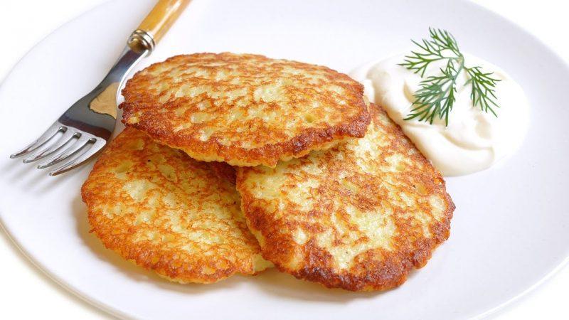 Картофельные оладьи при гв