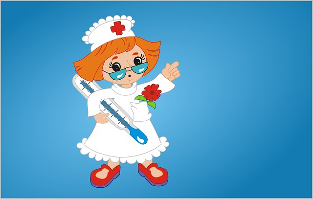 Медсестра с градусником